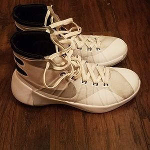 White Nike Hyperdunks